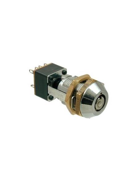 L709-0012 | Cerradura de llaves tubulares de 2 posiciones/2 salidas con 4 llaves