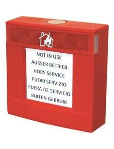 FDMH293-R  Carcasa roja, con vidrio y llave