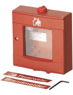 FDMH292-R  Carcasa roja para intemperie, con vidrio y llave
