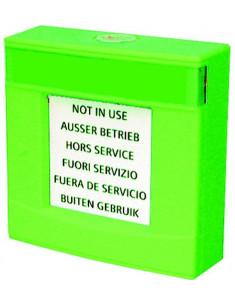 FDMH293-G  Carcasa verde, con vidrio y llave