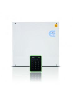 AP40M-12  Kit Controlador Aliro + lector de tarjetas Mifare con teclado y pantalla+ F.A. 12 Vdc en armario metálico
