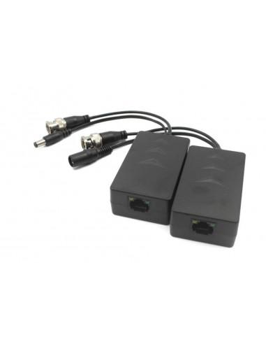 PFM801   Pack de 2 transceptores pasivos de vídeo y alimentación