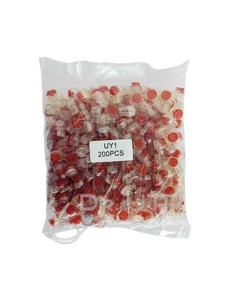 UY1  Conector UY para UTP de 0,4 a 0,7mm en Bolsa de 200 unidades