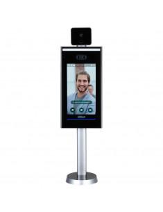 ASI7223X-A-T     Lector Autónomo LCD táctil de Reconocimiento Facial+PIN+Tarjeta y Temperatura corporal con pedestal